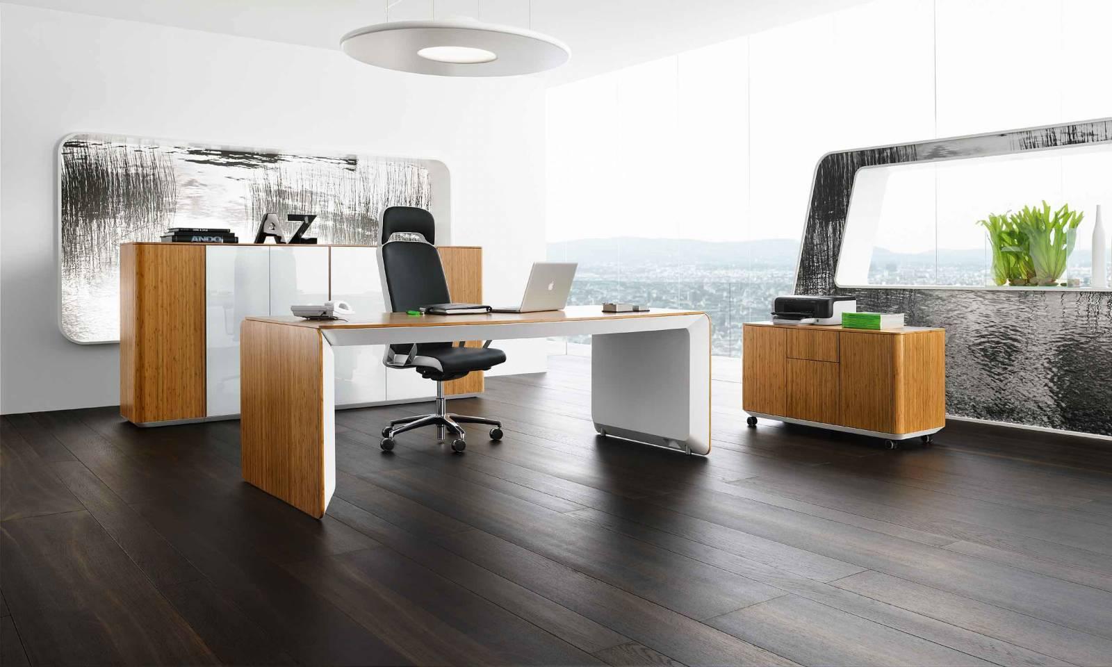 Ensemble de direction eRange, bureau, meuble de rangement mi-haut et bas