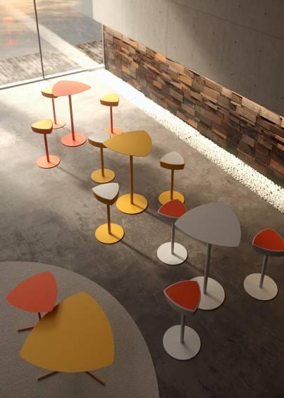 Tables et tabourets design Kensho , à installer dans touts lieux sur La Ciotat et ses environs