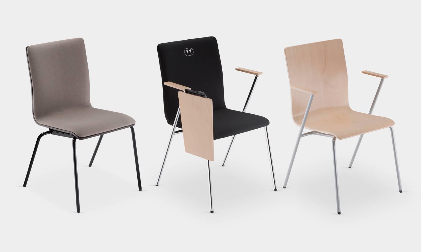 3 modèles de chaises de la gamme FEN sur Aix en Provence