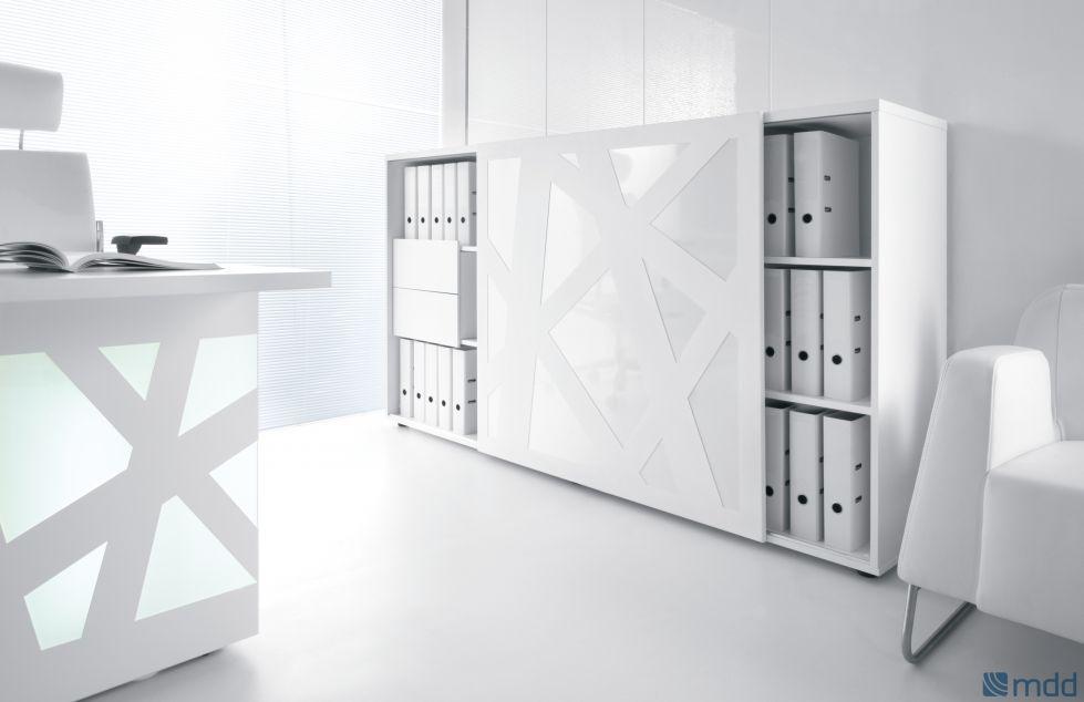 Armoire mi-haute design aux formes géométriques sur Aix en provence