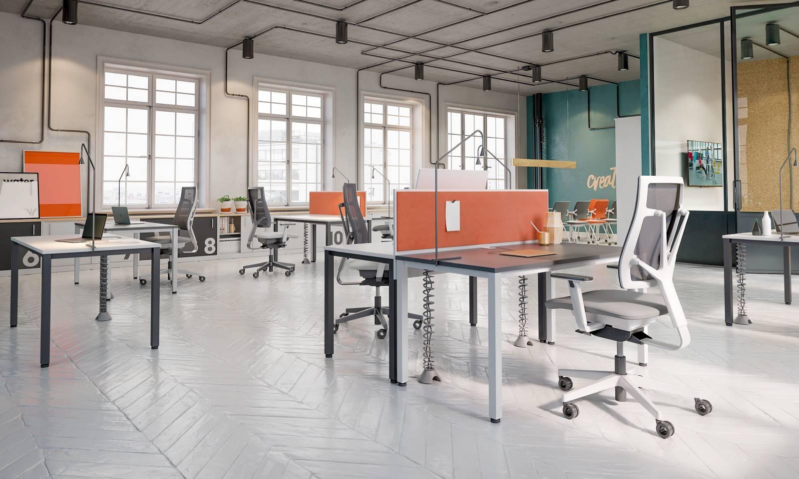 Très bel open-space avec un mobilier d'entrée de gamme Easy space sur Marseille