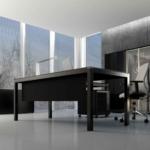 Bureau de direction avec armoire vitrine