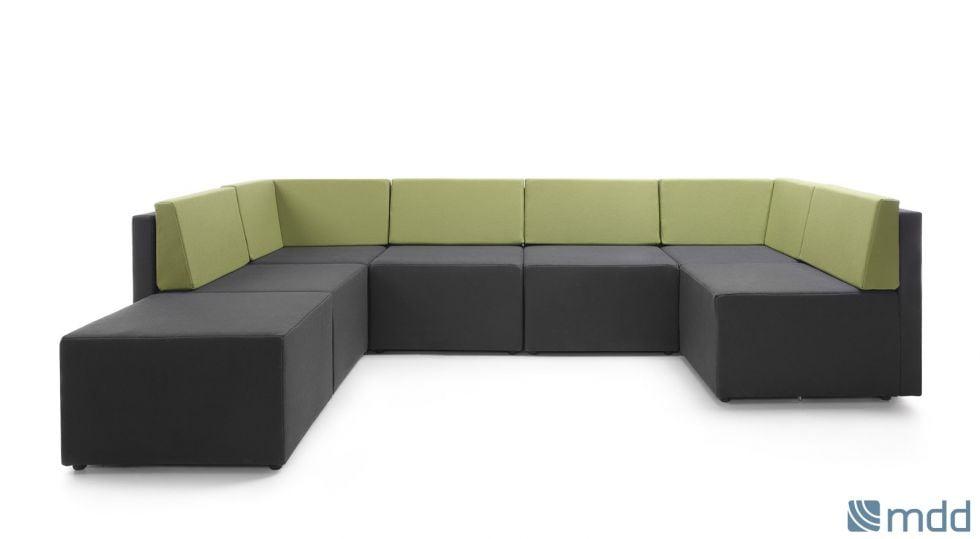 canapé lounge modulable. coloris de coussin au choix