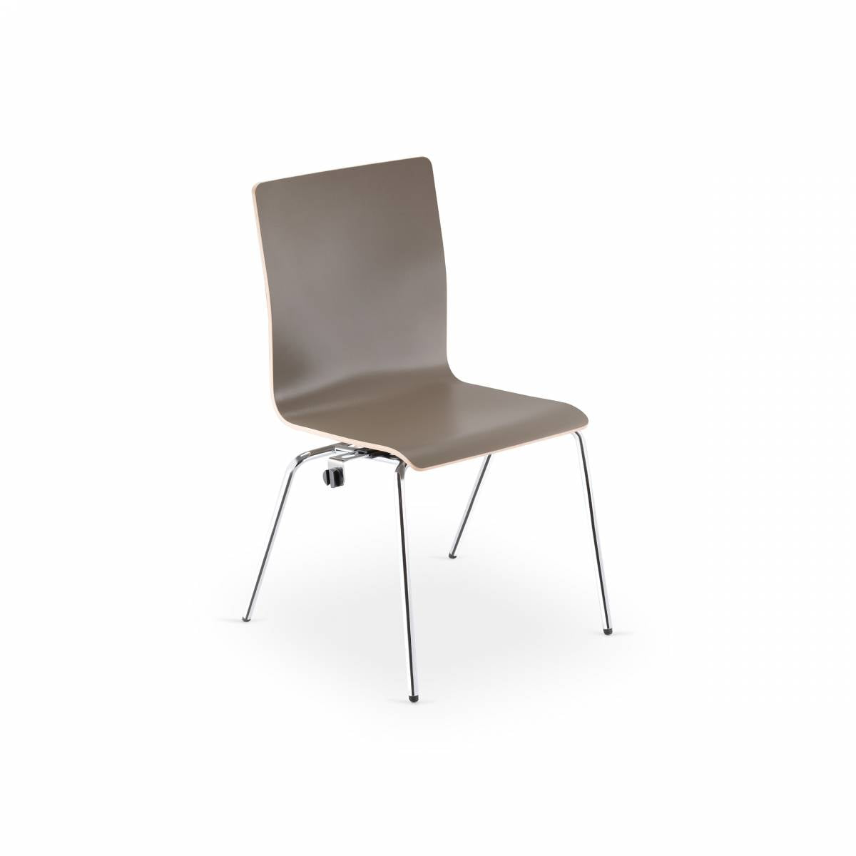 Chaise FEN coque bois 4 pieds métal sur Aix en Provence
