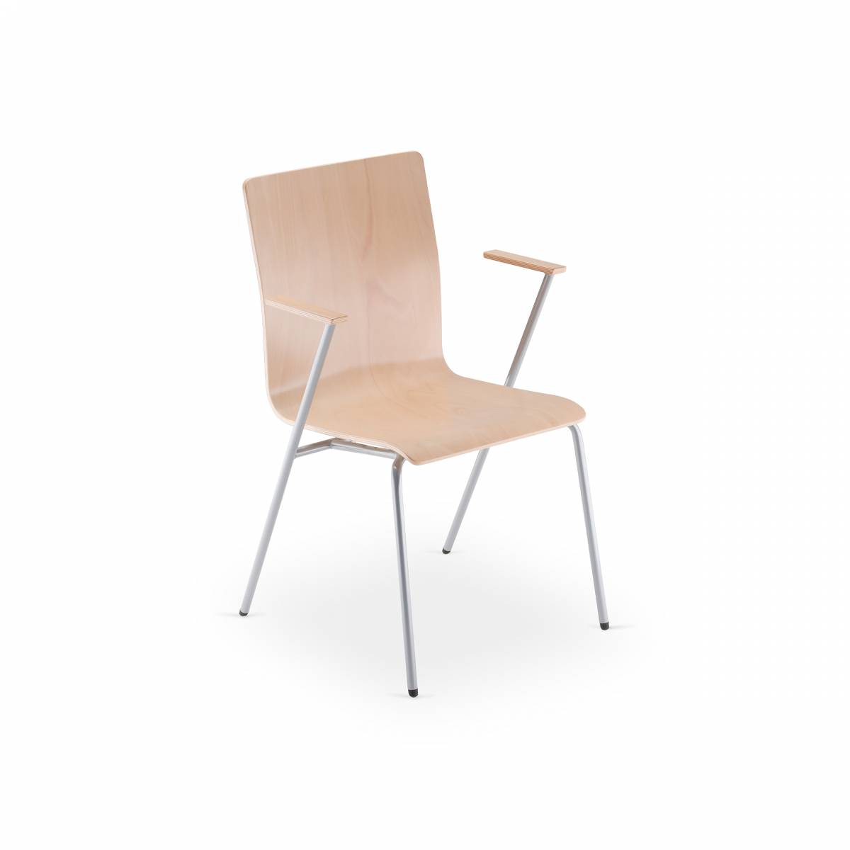 chaise FEN coque bois accoudoir sur Gemenos