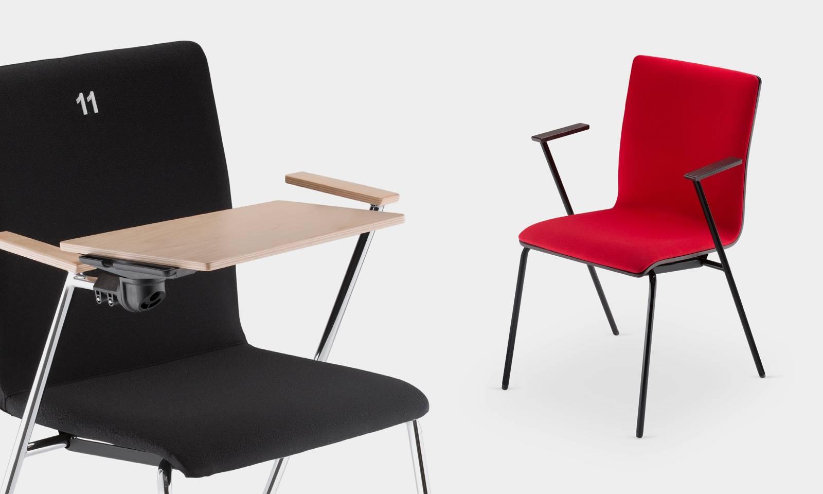Chaise FEN pour salle de formation avec tablette écritoire sur Les Pennes Mirabeau