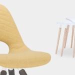 Chaise TAUKO entièrement tapissées avec la table modulaire TAUKO sur Aix les Milles