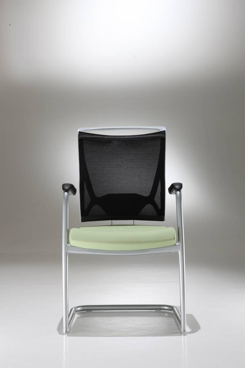 chaises visiteurs gamme KORIUM piétement luge avec accoudoirs sur Gemenos