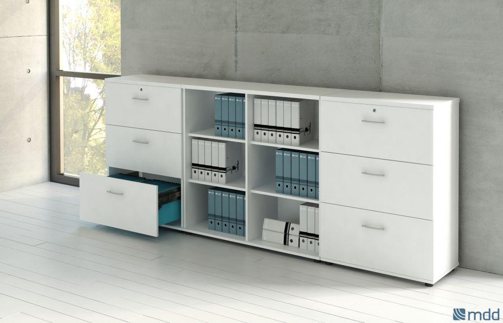 Ensemble de meuble bas a tiroirs et étagères avec serrure sur La ciotat