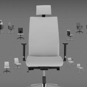 Ensemble des modèles de la gamme INTRATA fauteuil et chaise de réunion sur MARSEILLE
