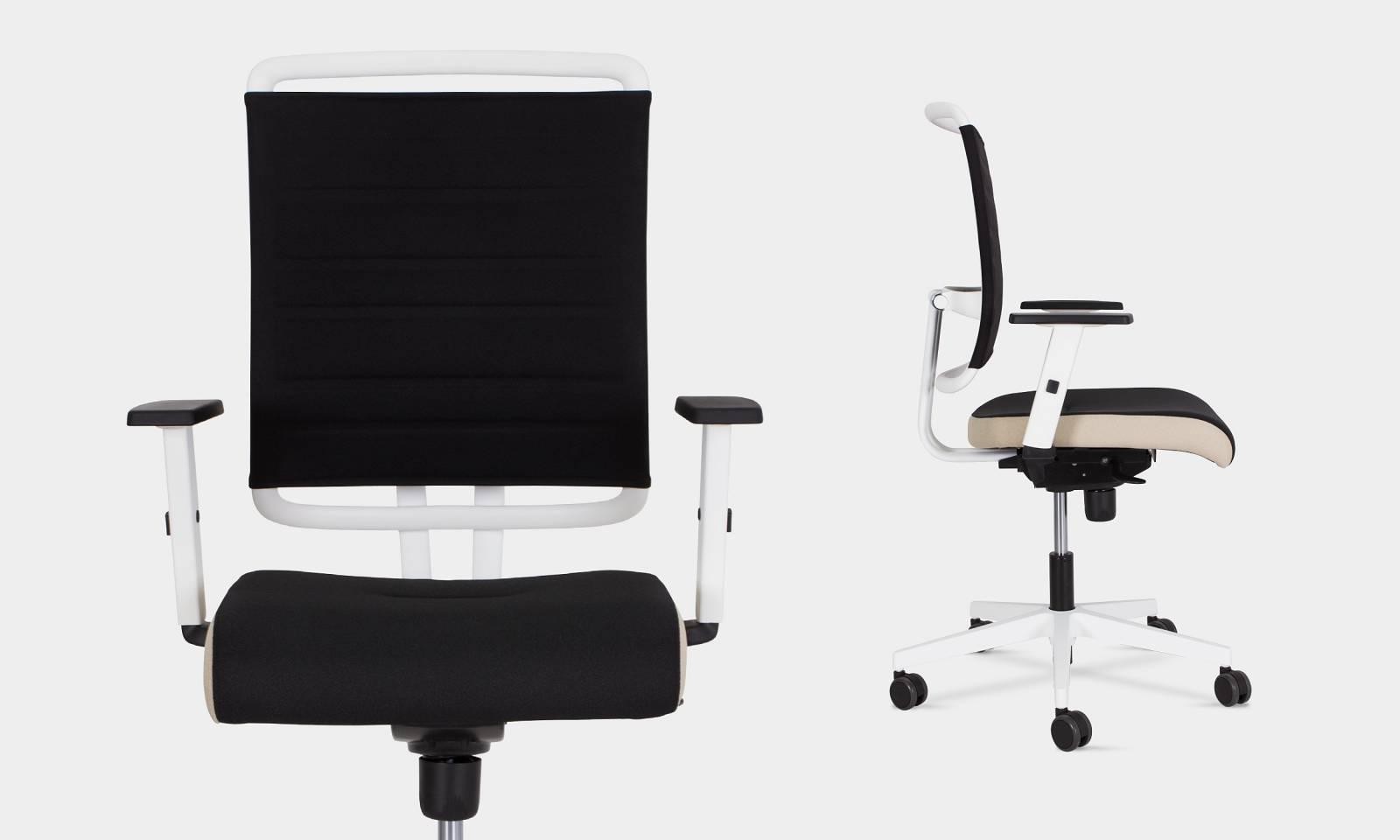 fauteuil de travail @SENSE dossier tapissé avec accoudoirs réglables sur TOULON