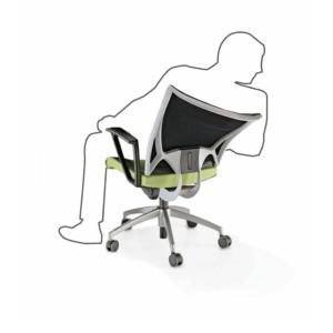 Fauteuil de travail KORIUM et son dossier flexible pour l'ergonomie sur Marseille