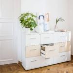 2 meubles de rangement à tiroirs pour dossiers suspendus, avec jeu de couleur pour une touche déco sur Marseille