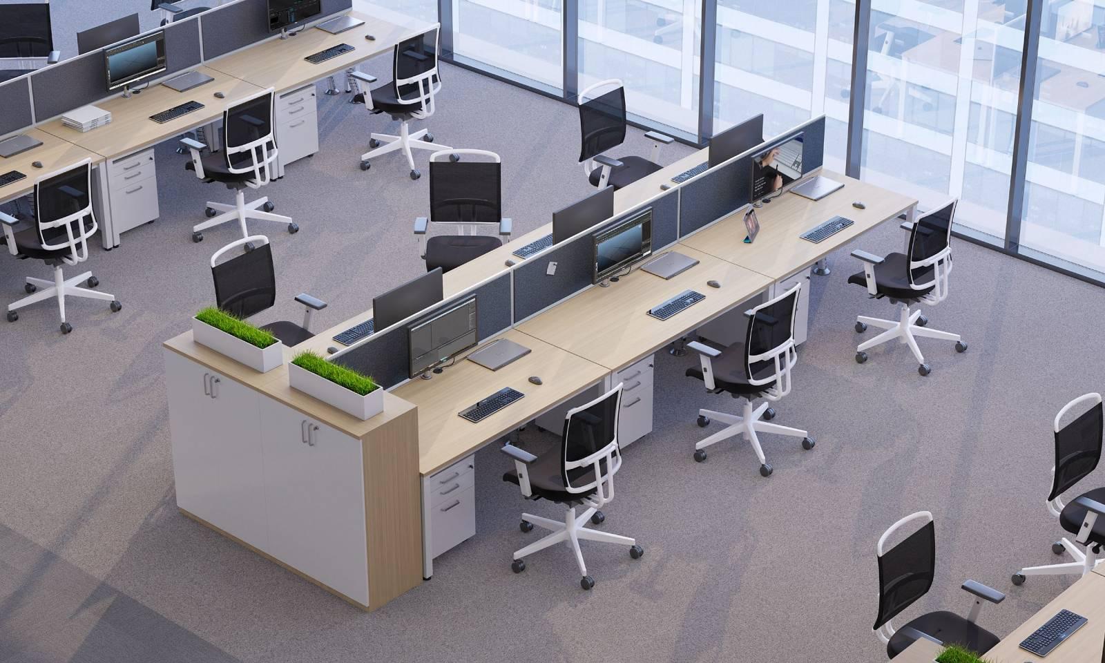 Open space aménagé avec des fauteuils de travail @SENSE sur Vitrolles