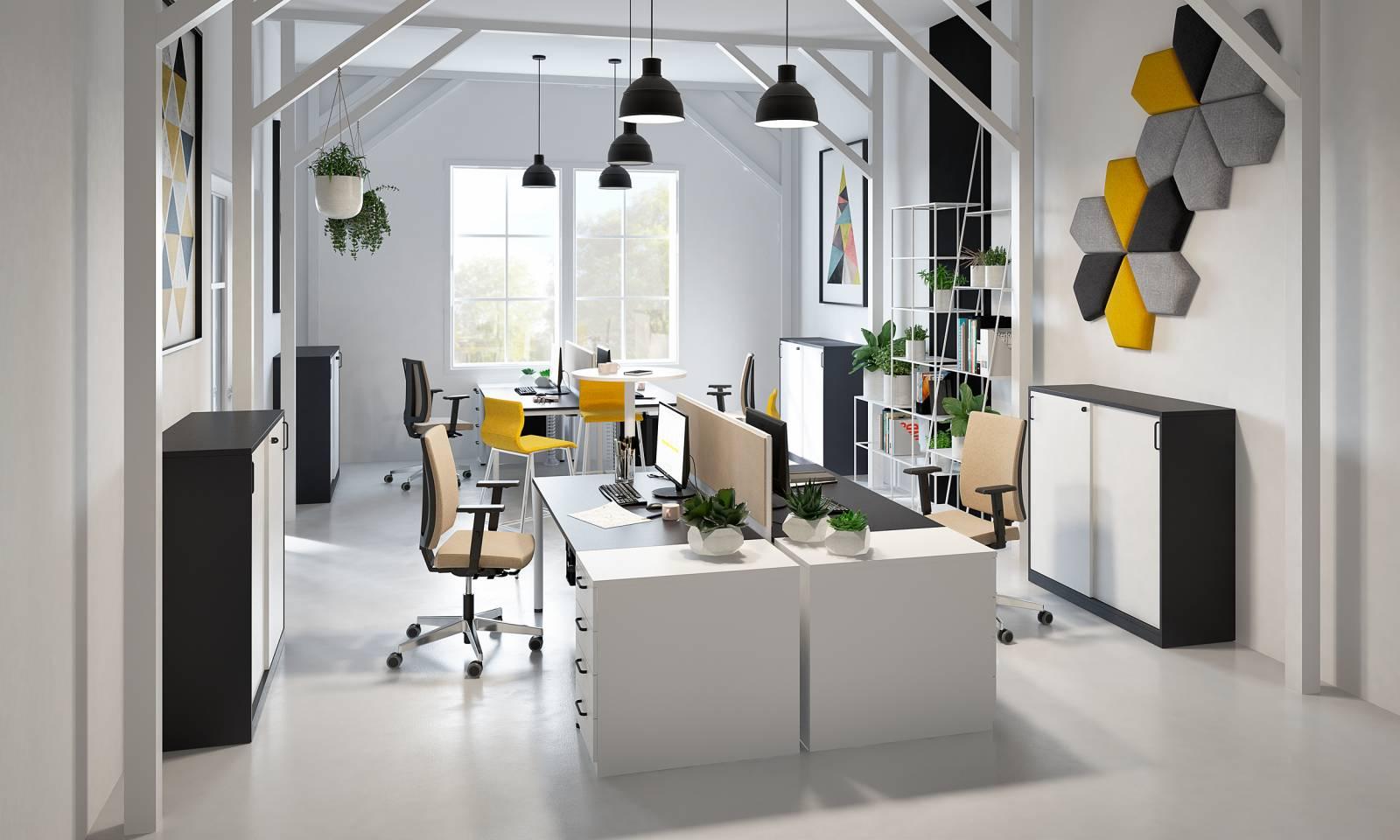 Open space créer avec du mobilier de la gamme de chez NOWYSTYL sur Aix en provence