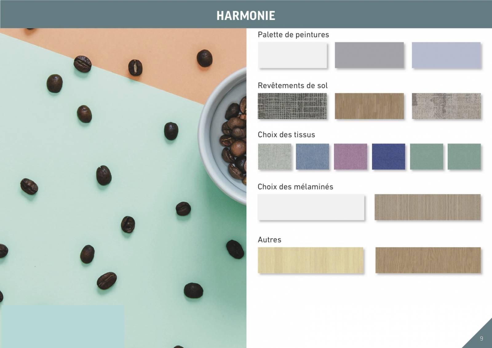 une planche tendance des coloris et matières présentée