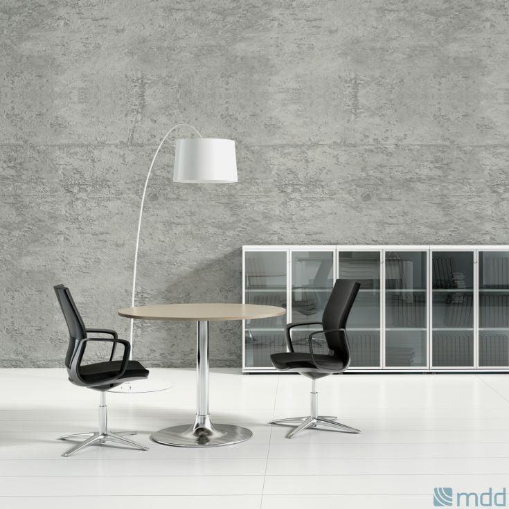 Table d'appoint de bureau de direction avec meuble bas vitrine