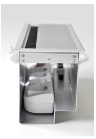 boitier pour prise de bureau vue inteieure du boitier