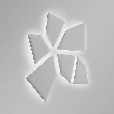 Configuration fleur de panneaux acoustiques design rétro-éclairé sur Aix les Milles
