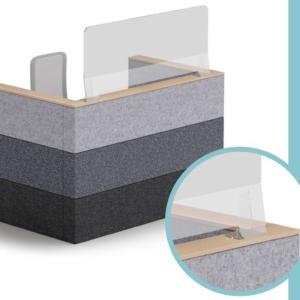 Ecrans de separation et de protection sur pieds, existent en dimensions différentes de chez Nowystyl sur Gemenos