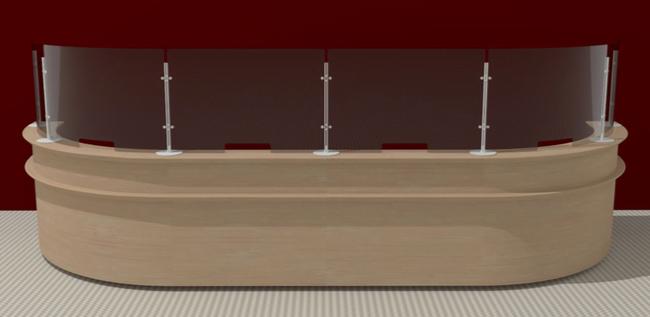 Ecrans de protection de formes différentes pour s'adapter à votre mobilier de chez Caimi sur Aix les Milles