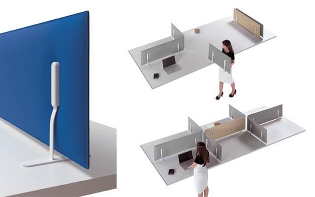 ensemble de configuration et modularité des panneaux acoustique pour bureau sur Aubagne