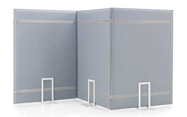Ensemble de panneaux acoustiques PLI pied carré reliés avec système d'attache élastique sur Aix les Milles