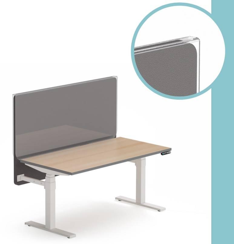 Etui en plexi pour écrans e separation ent issu afin de les protéger des projections et pour un nettoyage facile de chez Nowystyl sur Aix en provence