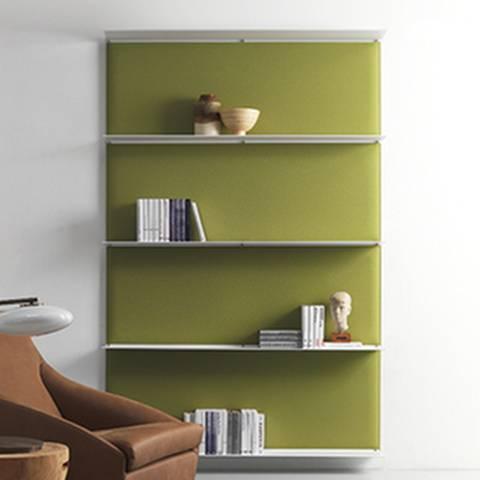 4 panneaux acoustiques avec étagères remplacent un meuble sur Aubagne