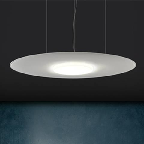 GIOTTO LUX panneau acoustique suspendu avec luminaire intégré sur Aix les Milles