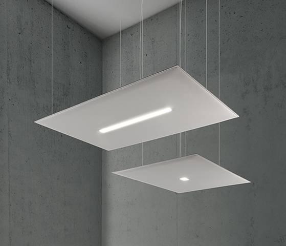 panneau acoustique avec luminaires intégrés en suspension horizontale sur Aix les Milles