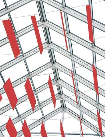 Panneaux acoustiques TAB reliés d'un mur à l'autre sur Aix les Milles