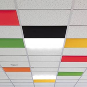 Paves acoustiques IN en remplacement de dalles de faux plafond pour améliorer l'acoustique sur Gemenos