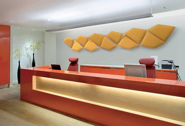 Utilisés pour leur efficacité d'absorption sonore ces panneaux acoustiques design par leurs formes et leurs couleurs décorent parfaitement un mur sur Vitrolles